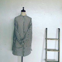 braces work wear  silk long shirt    -sold out