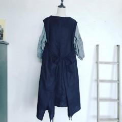 braces gather apron dress – sold out