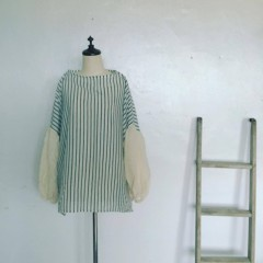 braces work wear  silk pullover    -sold out